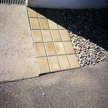 Reparatur einer gerissenen Einfahrt