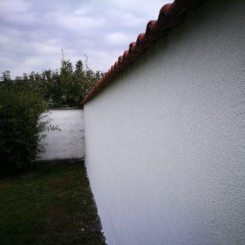 Bau einer Gartenmauer